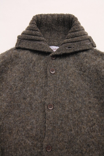 John Tulloch Heavy Brush Polo Neck Cardigan (4)
