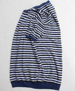 MIDA Cotton Multi Border Sweater (2)