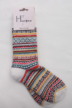 H Footwear Fair Isle WHITE (3)