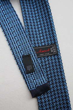 Ascot Silk Knit Tie BLUE (2)