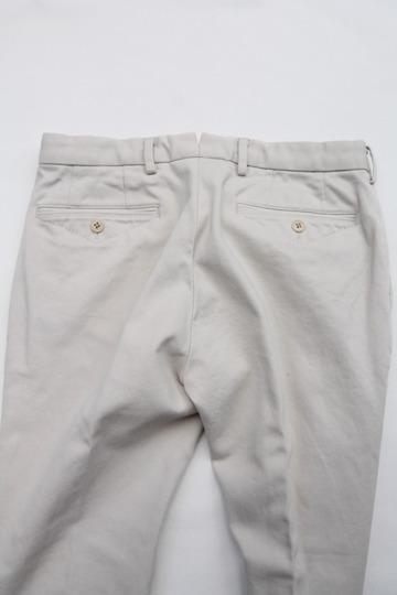 DC WHITE Pique Basic Pants IVORY (5)