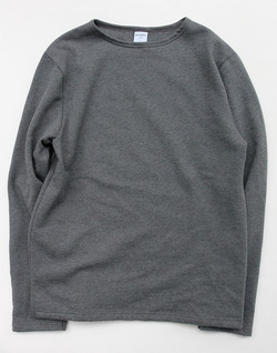 Quotidien Cotton Fleece Boat Neck  ANTHRACITE CHINE