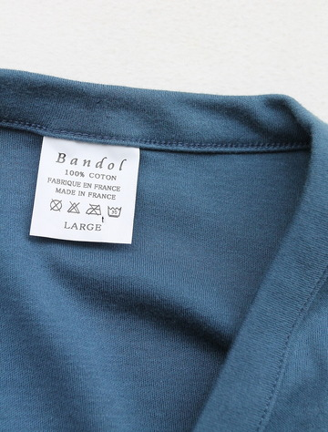 Bandol Interlock V Cardigan BLUE (4)
