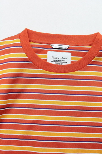 FIDELITEY Multi Border SS Tee ORANGE (2)