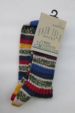 GRANGE CRAFT Fair Isle Socks No 4 (3)