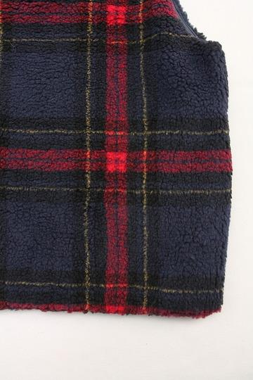 NOUN Vest Check RED X NAVY (3)