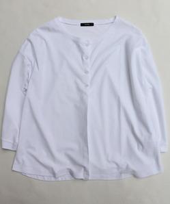 MAXOU C R Pique Crew Cardigan WHITE
