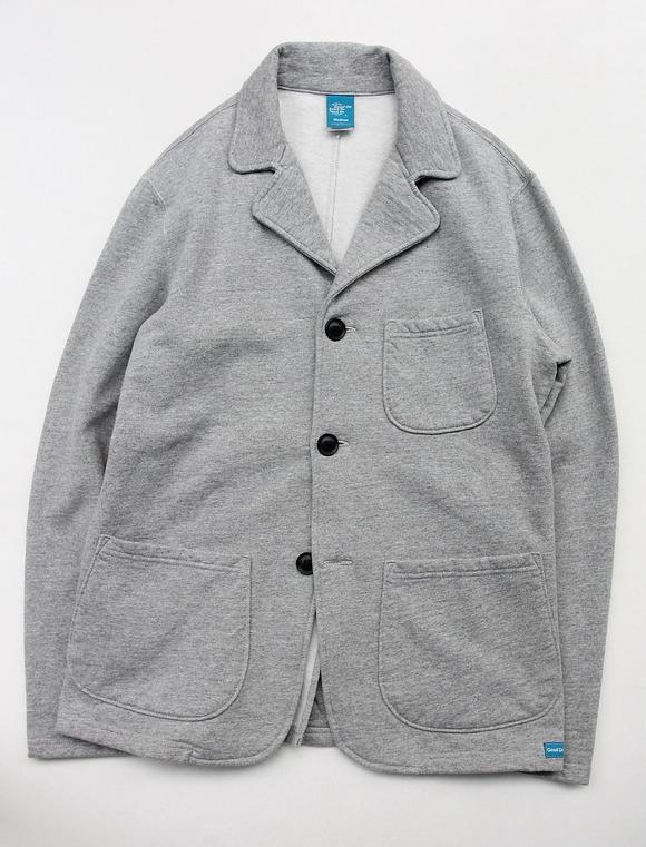 Goodon 9oz Cotton Fleece 3 Button Blazer H GREY