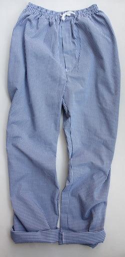 Alexandra Chefs Trousers NAVY Gingham (5)