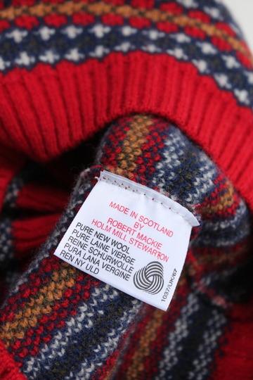 MACKIE Wool Jackquard Tam RED (3)