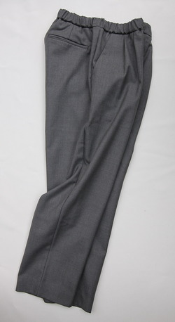 CASTERS Summer Wool 2Pleats Trousers LITE GREY (2)