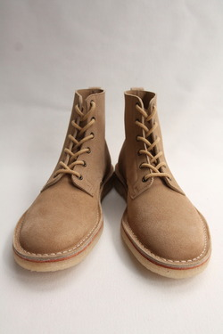 Suffolk Shoes Desert Hi Top SAND Suede (2)