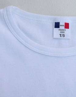 Bandol 1X1 Rib Short Sleeve Military Crew WHITE (2)