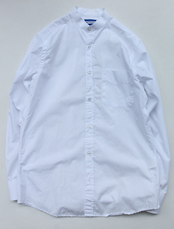 BATTERSEA Grandad Shirt WHITE