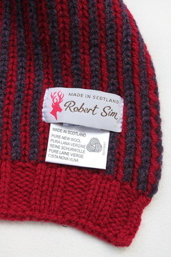 Robert Sim Rib Knit RED X GRAY NAVY (3)