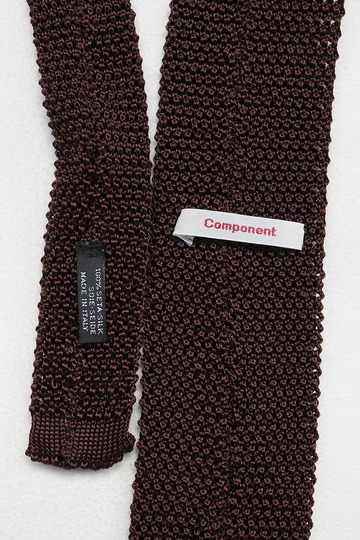 Component MADE IN ITALY Shilk Knit Tie  BURGUNDY (2)