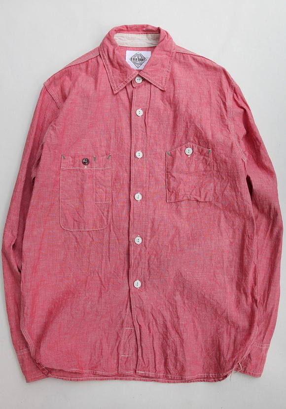 FOB Chambray Work Shirt RED