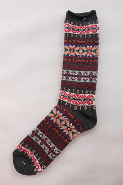 Anonymus ISM Cotton Fair Isle Crew CHARCOAL (3)
