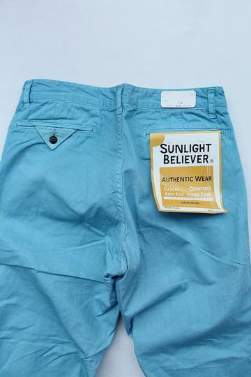 Sunlight Believer 9 Length Chino BLUE (4)