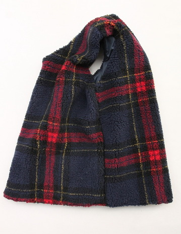 NOUN Vest Check RED X NAVY (5)