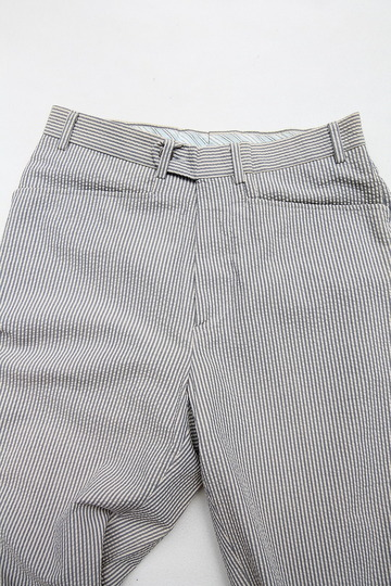 Mabitex Seersucker Tepered Pants BEIGE X GREY (5)