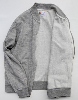 Felco French Terry Award Zipfront Jacket HEATHER GREY (3)