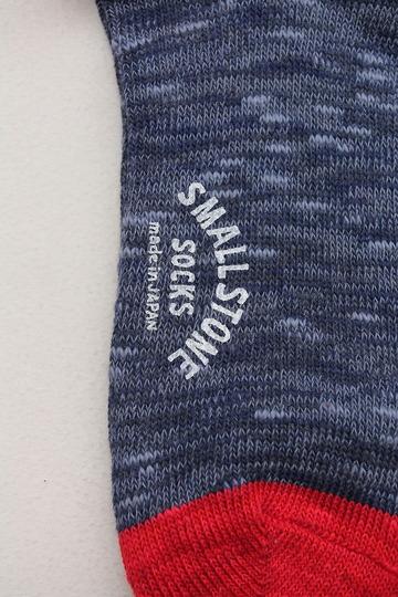 SMALL STONE Socks Cotton Slab Mix Crew NAVY (2)