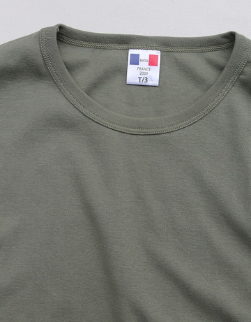 Bandol 1X1 Rib Short Sleeve Military Crew OLIVE (2)