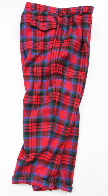 CESTERS 1 Pleats Trosuers  Burel RED Plaid (7)