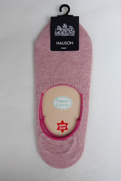 HALISON Organic Cotton Slip On Socks I PINK (2)