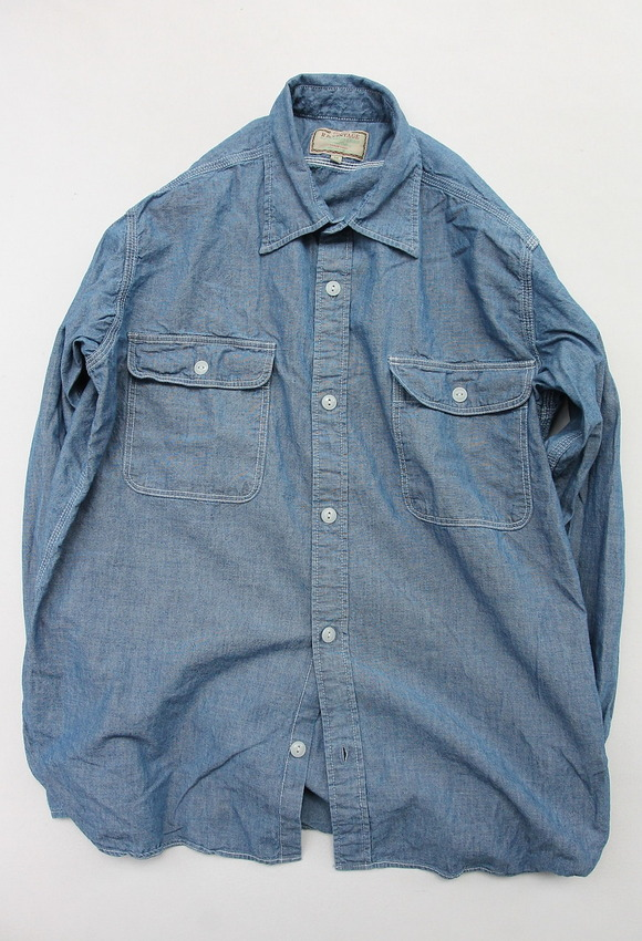 R & Vintage 5 oz Chambray LS TN Shirt