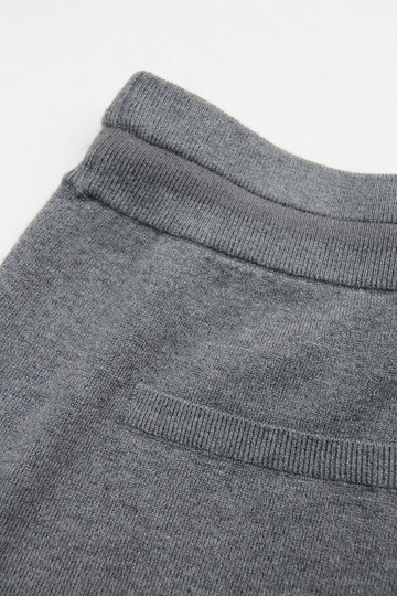 YaYa Wool Sweat Pants DARK GREY MELANGE (3)