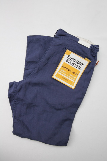 Sunlight Believer Irish Linen Relax Pants NAVY (3)