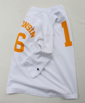 Champion T 1011 34 Football Tee Shirt WISCONSIN 16 WHITE (4)
