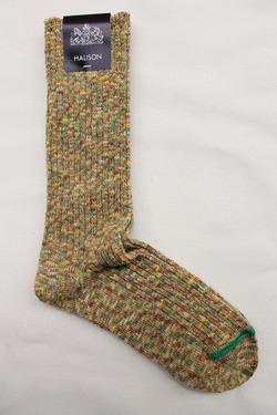 HALISON Marble Slab Rib Socks YELLOW (2)