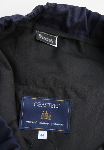 CESTERS Wool Herringbone  No Pleats Easy Trousers NAVY (2)