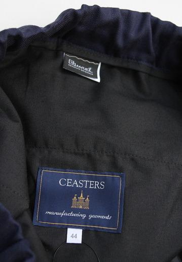 CESTERS Wool Herringbone  No Pleats Easy Trousers NAVY (2)