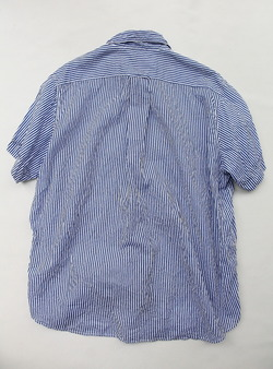 Vasy Lentlement Regular CollarOversized Shirt BLUE Stripe (4)
