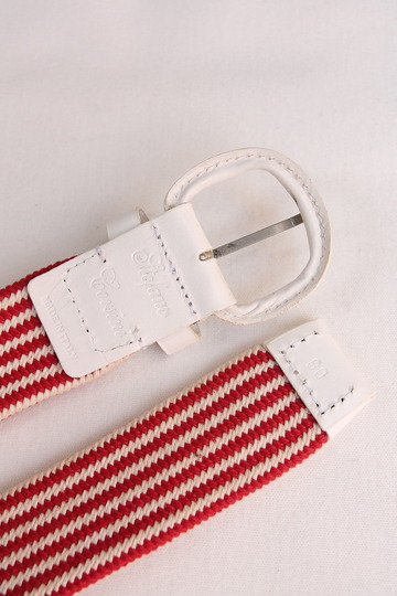 Stefano Corsini Cotton Breed Rubber Belt WHITE (3)