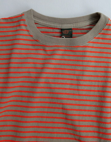 Goodon SS Border Tee ARMY X RED (2)