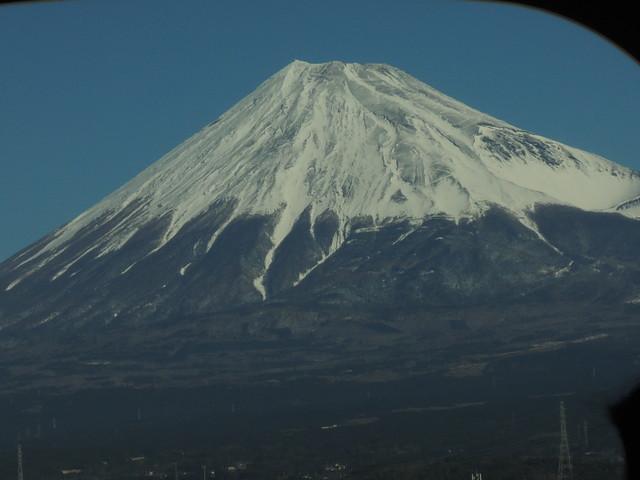 東京からの新幹線で見た富士山(その2)