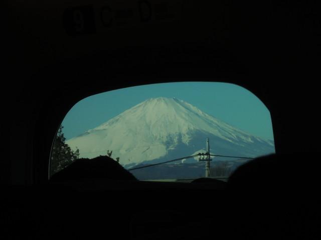 東京からの新幹線で見た富士山(その1)