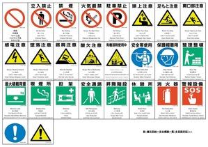 外国語併記安全標識一覧