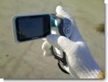 防水デジタルムービーカメラで施工記録を撮影