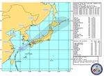 米軍が提供する台風情報による進路予報