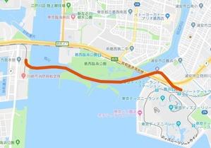 新木場車両基地舞浜駅間ルート(勝手に)