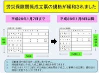 【重要】工事現場に掲示する労災保険関係成立票のサイズも縮小され、A3(B4)でも可能に