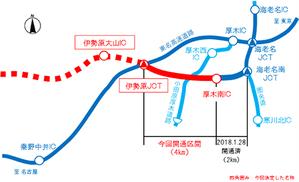 厚木南IC〜伊勢原JCT