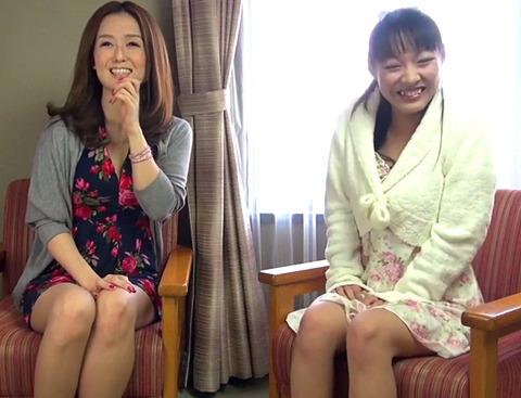 和室布団で寝ている黒髪お姉さんが夜這いされて感じやすい乳首を舐められて悶える!