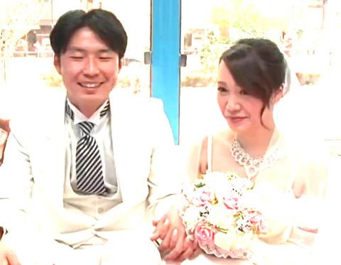 結婚式したばかりの新婚さんをナンパ!MM号で新婚夫婦を寝取って即挿入中出し